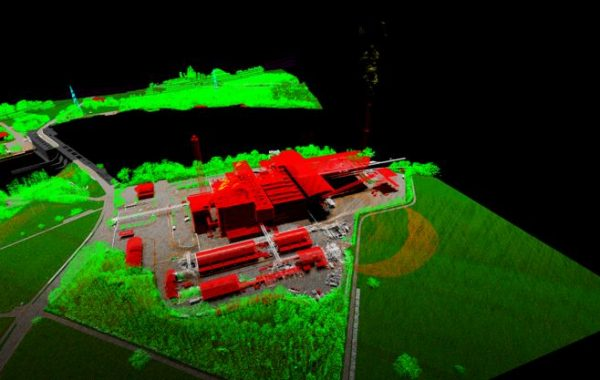 Airborne lidar point cloud