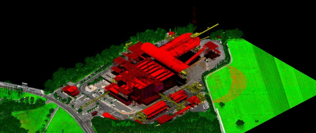 lidar industrial constructions land management