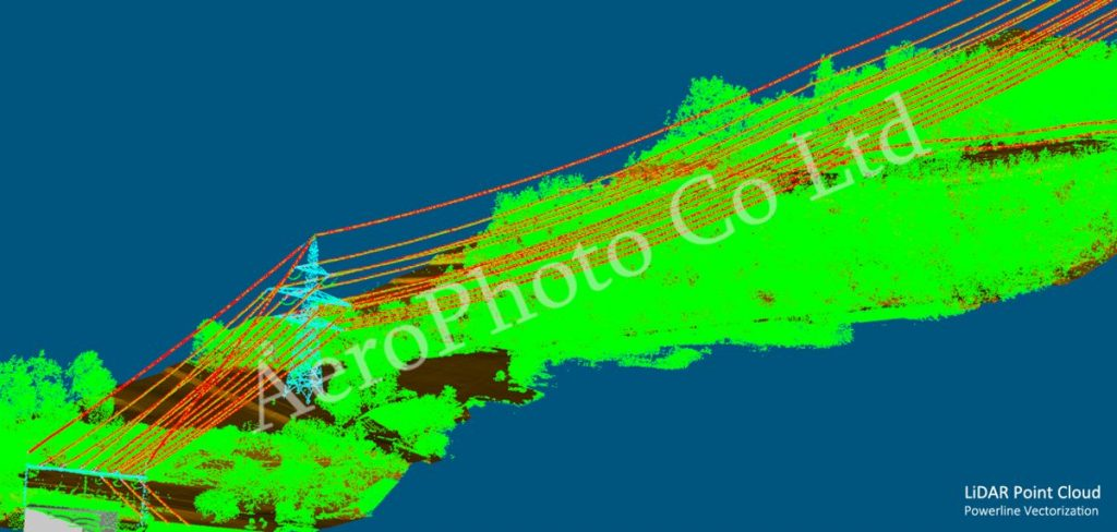 lidar powerline vectorization